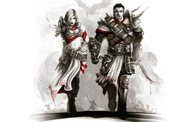 Обои fantasy, воины, role-playing game, Divinity Original Sin