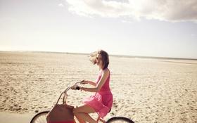 Картинка велосипед, модель, платье, Zuzana Gregorova