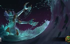 Обои море, вода, ночь, волна, Heroes of Newerth, Riptide, Pisces Riptide