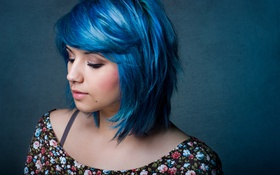 Картинка волосы, голубые, Lia Curtis