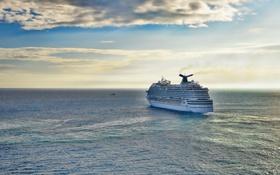 Картинка море, пейзаж, корабль