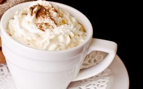 Картинка мешочек, кофе, кофейная пенка, шоколад, кофейные зерна, салфетка