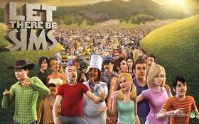 Картинка трава, солнце, игра, персонажи, Симс 3, The Sims 3