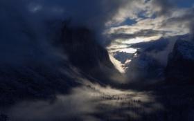 Картинка Mist, Yosemite National Park, El Capitan, Hidden Village