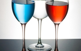 Обои стекло, краски, бокал, напиток, фужер