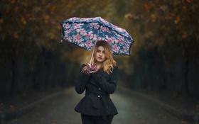 Картинка макияж, зонт, губки, Rainy Day, капли