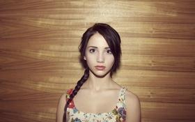 Картинка глаза, фон, коса, girl, Emily Rudd