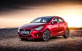 Обои мазда, UK-spec, 2015, Mazda 2