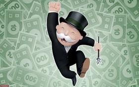 Картинка Игра, Фон, Деньги, Монополия, Monopoly, Бакс