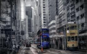 Картинка город, улица, Hong Kong