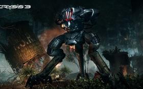 Обои робот, разрушения, Crysis, Crytek, Electronic Arts, CryEngine 3