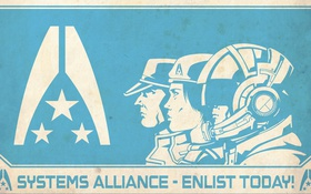Обои alliance, poster, mass effect