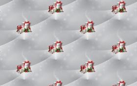 Обои Новый год, фон, текстура, праздник, подарок
