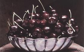 Обои вишни, блюдо, бардо