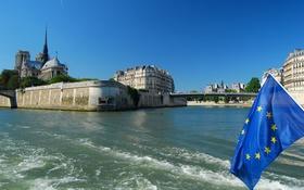 Картинка река, собор парижской богоматери, Париж, Франция, Сена, мост