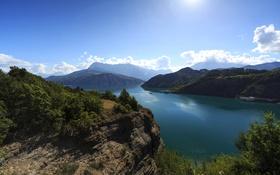 Обои река, скалы, Прованс, Provence, Франция, горы