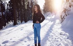 Картинка снег, джинсы, солнечно, Martin Kühn, Shanice