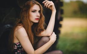 Обои портрет, макияж, пирсинг, Florian Seelmann, Cintia