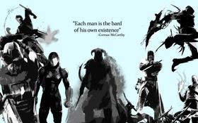 Обои герои, фраза, deus ex, Каждый человек сам выбирает свой путь