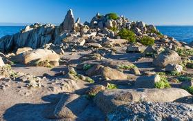 Обои море, небо, камни, скалы