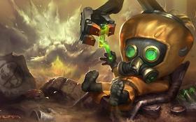 Обои toxic, lol, League of Legends, Revered Inventor, heimerdinger