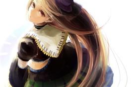 Картинка девушка, шляпа, аниме, арт, utau, namine ritsu, sink916