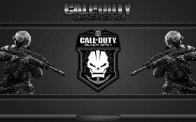 Обои игра, череп, солдат, эмблема, call of duty, COD, black ops 2