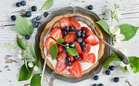 Обои ягоды, пирог, выпечка