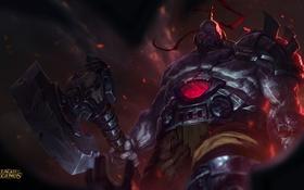 Картинка топор, League Of Legends, Sion, здоровяк, Undead Champion