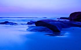 Обои море, небо, камни, горизонт