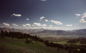Картинка Соединенные Штаты, холмы, облака, небо, горизонт, долина, Монтана