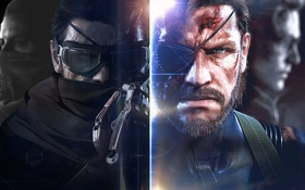 Картинка Big Boss, Metal Gear Solid V: The Phantom Pain, Ocelot, Kazuhira Miller, Punished Snake