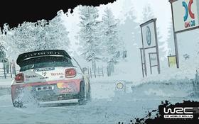 Обои Зима, Авто, Игра, Citroen, DS3, Rally, WRC 3
