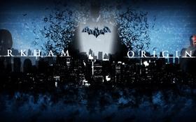 Обои Черный, Ночь, Город, Снег, Мыши, Batman, Batman: Arkham Origins