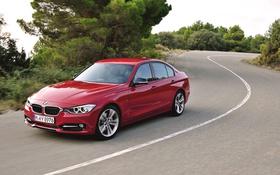 Обои Красный, Авто, Дорога, BMW, Бумер, Асфальт, БМВ