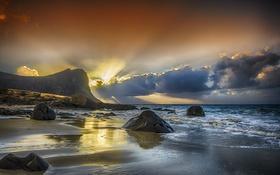 Картинка пляж, вода, Песок