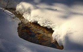 Картинка свет, снег, весна