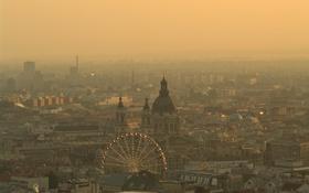 Картинка город, утро, budapest