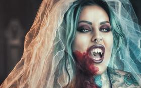 Картинка девушка, вампир, невеста