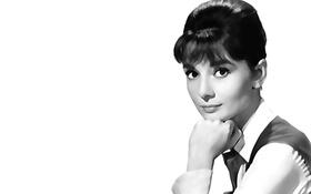 Картинка Одри Хепберн, Audrey Hepburn, актриса, черно-белое