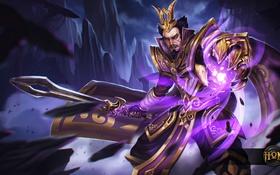 Обои меч, лорд, защитник, Heroes of Newerth, Maliken, Cao Cao Maliken