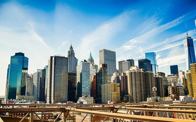 Обои город, небоскребы, USA, америка, сша, New York City, нью йорк