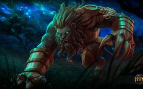 Обои лев, hon, охотник, Leo, Heroes of Newerth, Night Hound