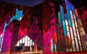 Обои огни, США, Канзас, краски, Оверленд-Парк, Prairiefire, музей