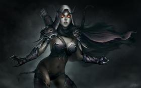 Обои девушка, броня, world of warcraft, острые уши, sylvanas windrunner