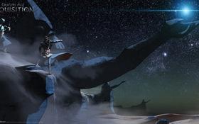 Обои небо, звезды, ночь, голова, Dragon Age: Inquisition, наблюдатели