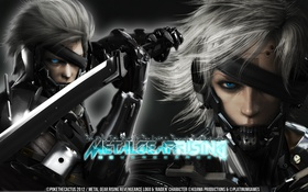 Картинка лицо, Raiden, Metal Gear Rising, Revengeance, Katana, Jack the Ripper, Cyborg Ninja