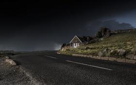 Обои дорога, Dark, Light