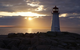 Картинка море, пейзаж, маяк, Nova Scotia, Peggy's Cove
