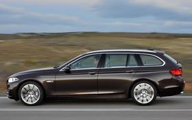 Обои BMW, вид сбоку, машина, car, Touring, 530d, Modern Line